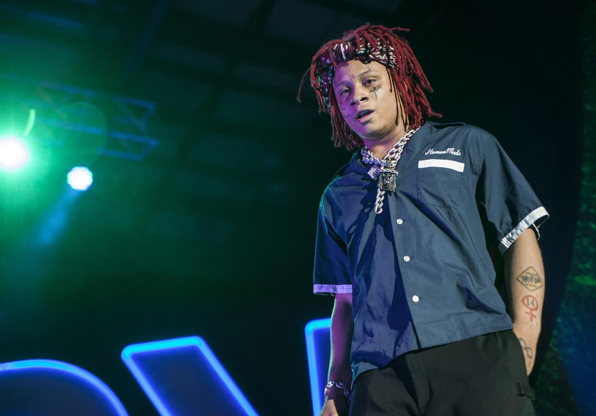 Trippie Redd performs at Charlotte Metro Credit Union Amphitheatre on May 1, 2018 in Charlotte, North Carolina
