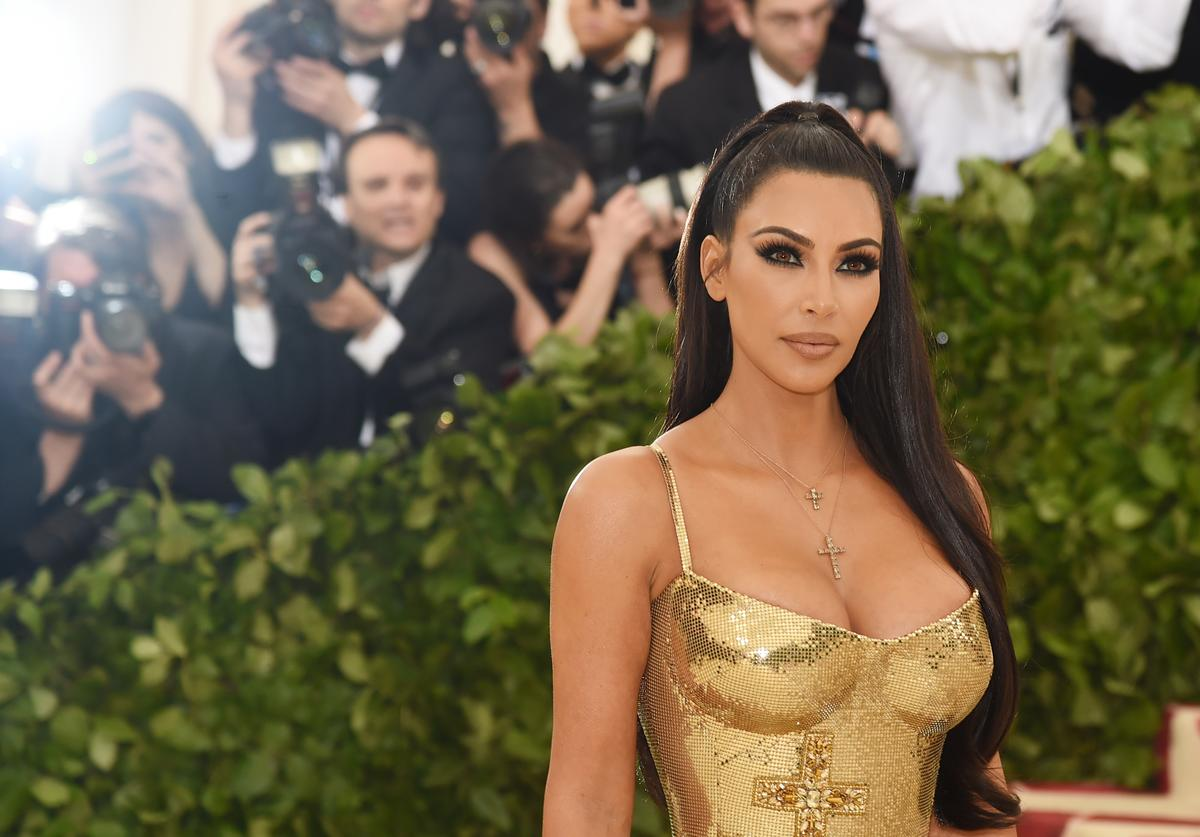 Kim Kardashian attends the Heavenly Bodies: Fashion & The Catholic Imagination Costume Institute Gala at The Metropolitan Museum of Art on May 7, 2018 in New York City