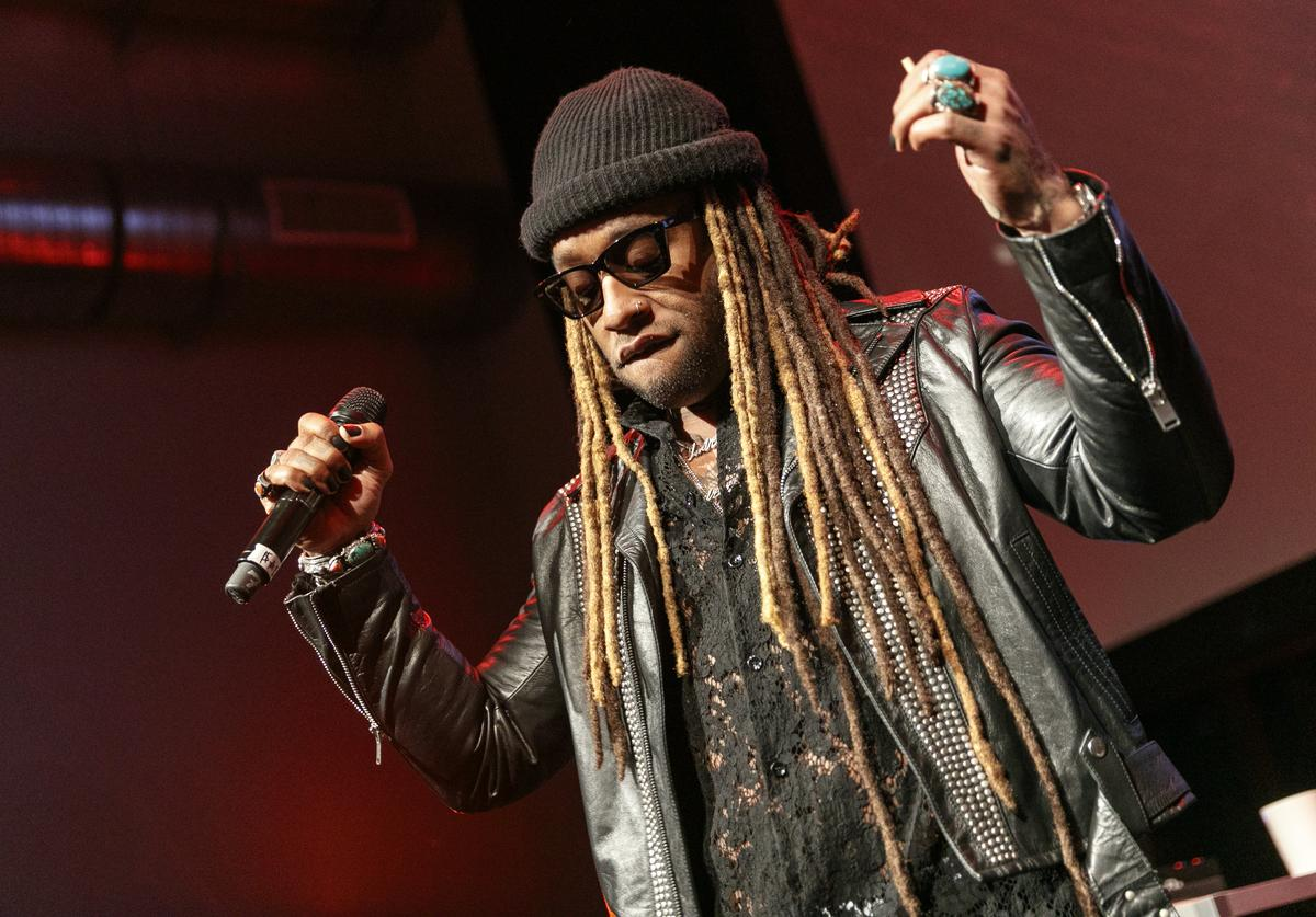 Ty Dolla $ign performs on stage at an event where BET NETWORKS Hosts an Exclusive Dinner & Performance for upcoming docuseries 'Death Row Chronicles' about the rise and fall of the world's most dangerous record label at NeueHouse Hollywood on February 15, 2018 in Los Angeles, California