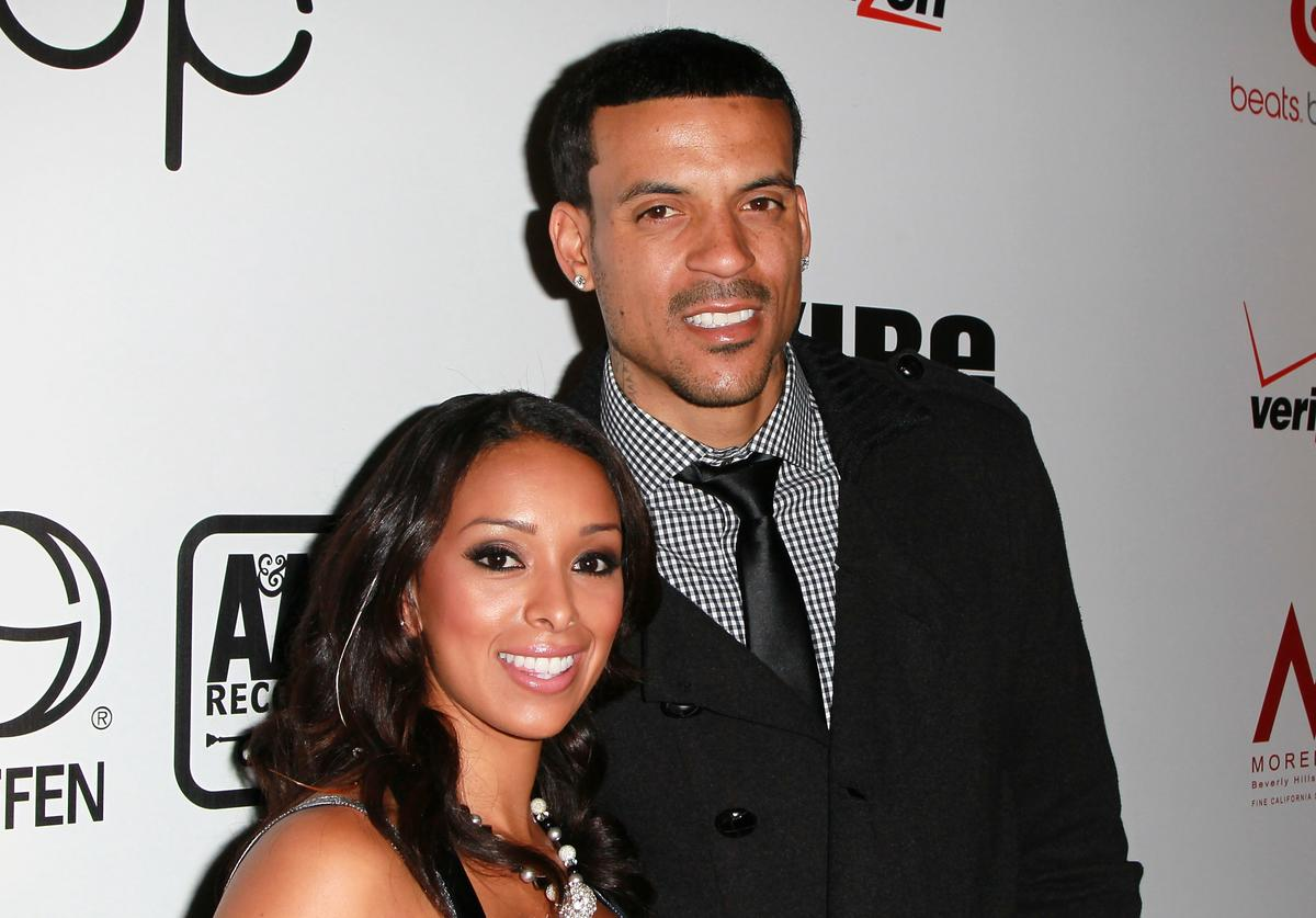 Gloria Govan (L) and NBA player Matt Barnes attend the 5th anniversary 'Creme of the Crop' post BET Awards Dinner Celebration at Mr Chow on June 26, 2011 in Beverly Hills, California