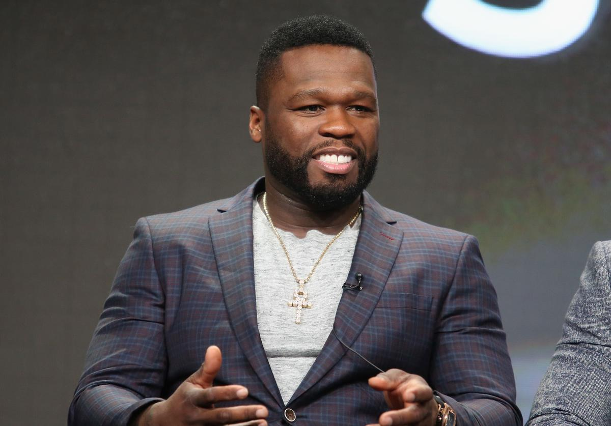 Curtis '50 Cent' Jackson speaks onstage during the 'Power' panel discussion at the Starz portion of the 2016 Television Critics Association Summer Tour at The Beverly Hilton Hotel on August 1, 2016 in Beverly Hills, California