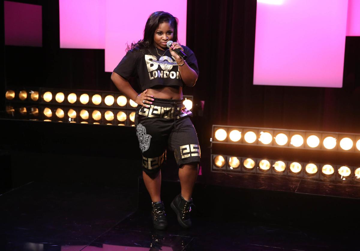 Reginae Carter performs at Music Choice on August 18, 2014 in New York City