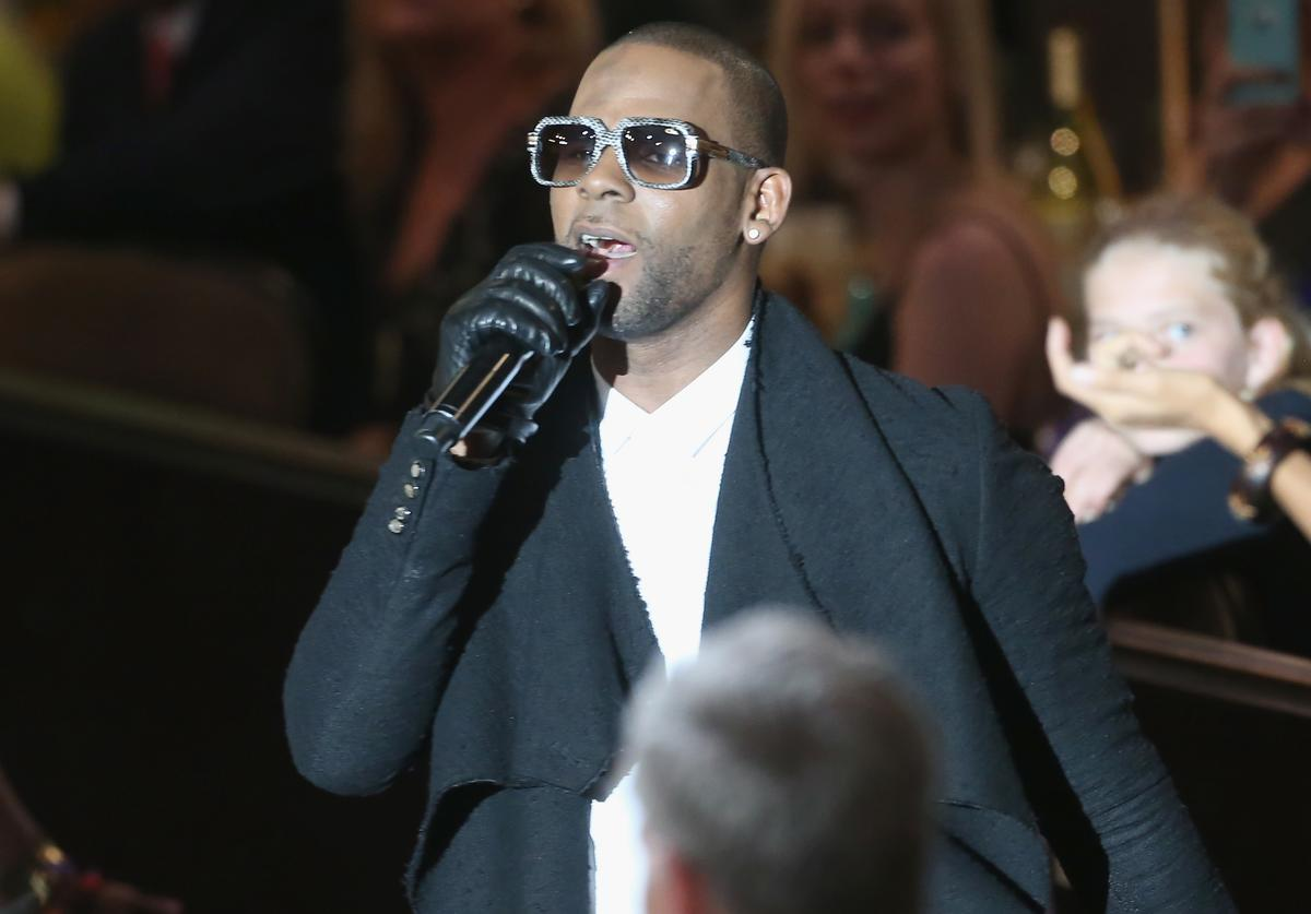 Recording artist R Kelly performs onstage during the 56th annual GRAMMY Awards Pre-GRAMMY Gala and Salute to Industry Icons honoring Lucian Grainge at The Beverly Hilton on January 25, 2014 in Beverly Hills, California.