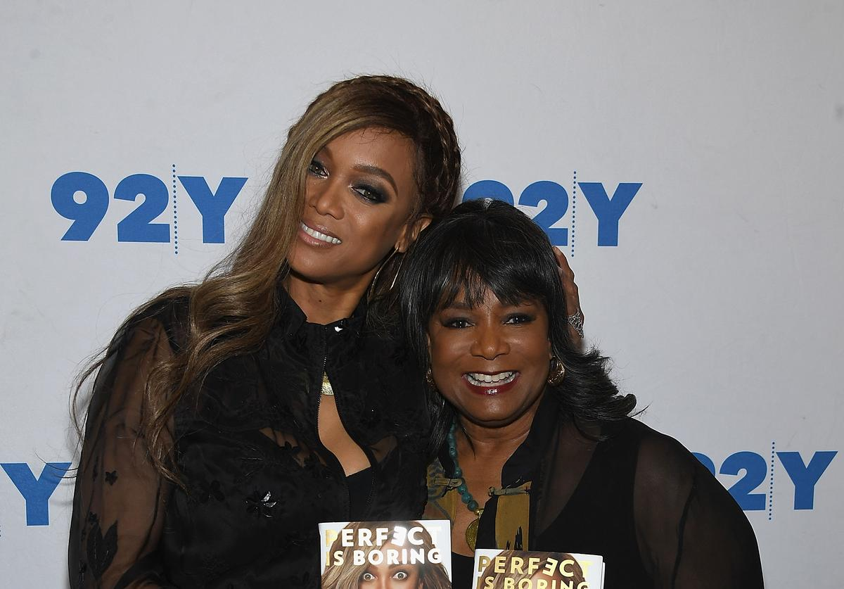 Tyra Banks and Carolyn London Discuss Their New Book 'Perfect Is Boring' at 92nd Street Y on April 5, 2018 in New York City