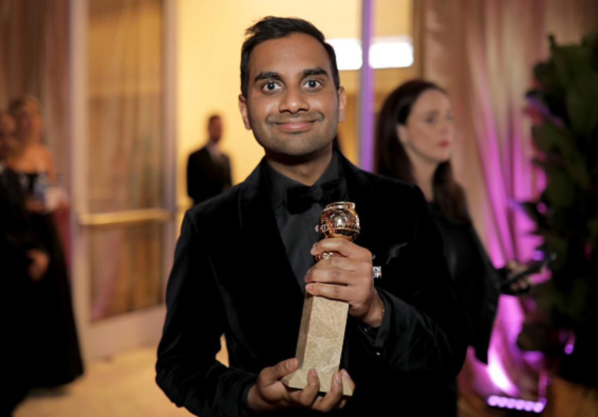 Aziz Ansari attends the Official Viewing and After Party of The Golden Globe Awards bosted by The Hollywood Foreign Press Association on January 7, 2018 in Beverly Hills, California.