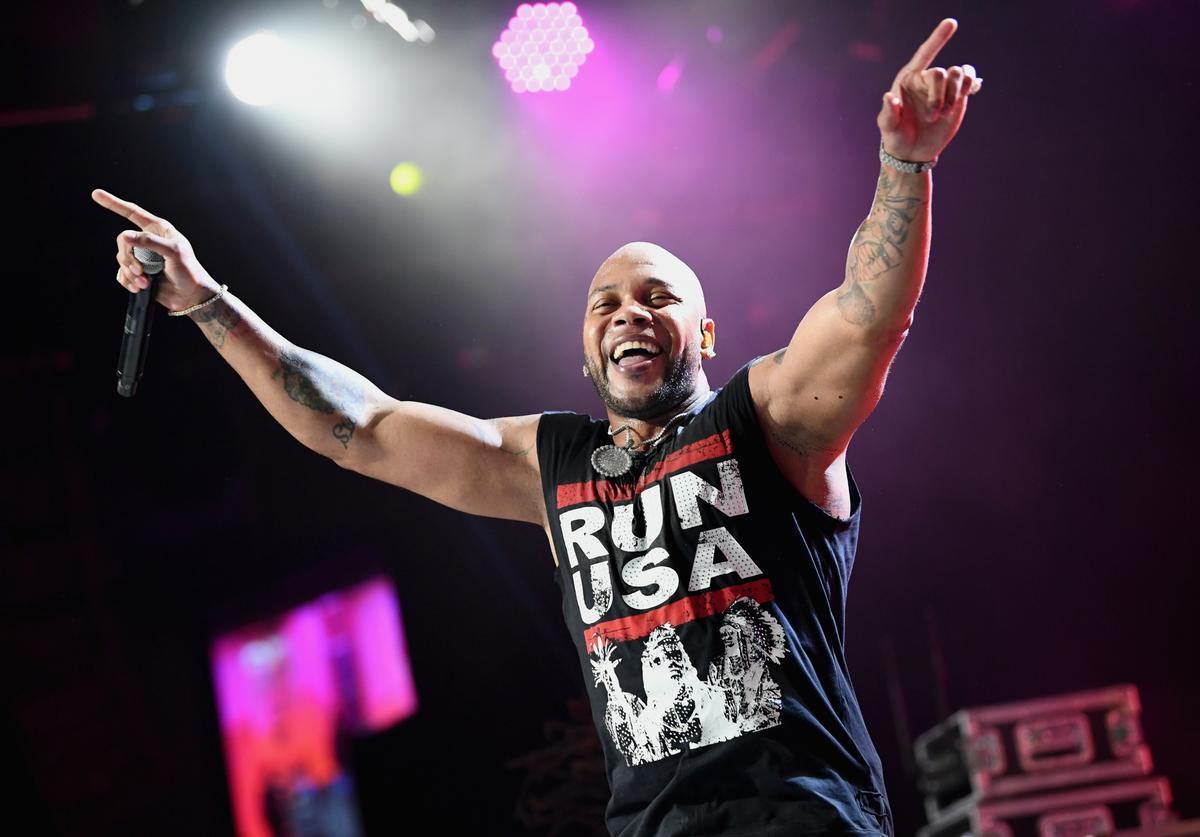 Flo Rida performs onstage at the 25th Annual Race To Erase MS Gala at The Beverly Hilton Hotel on April 20, 2018 in Beverly Hills, California