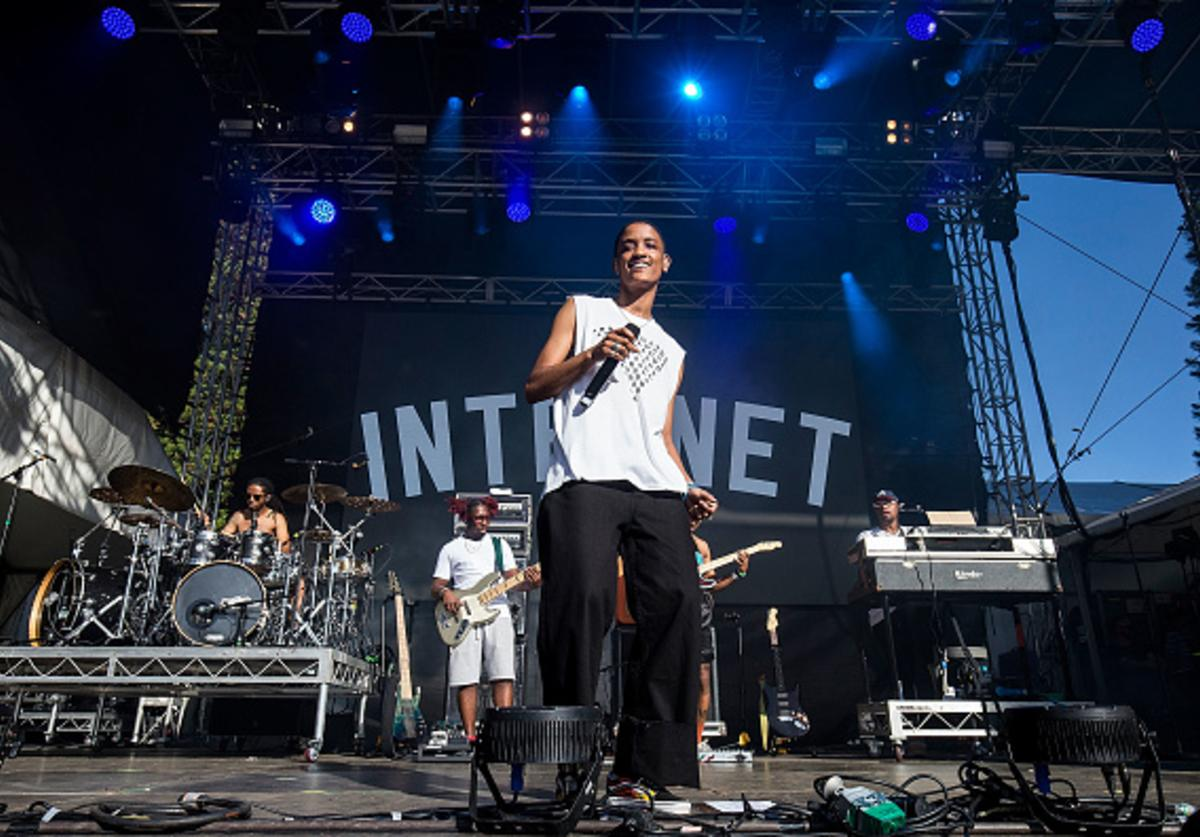 Syd Tha Kyd from The Internet performs on stage at St Jerome's Laneway Festival on February 11, 2018 in Fremantle, Australia