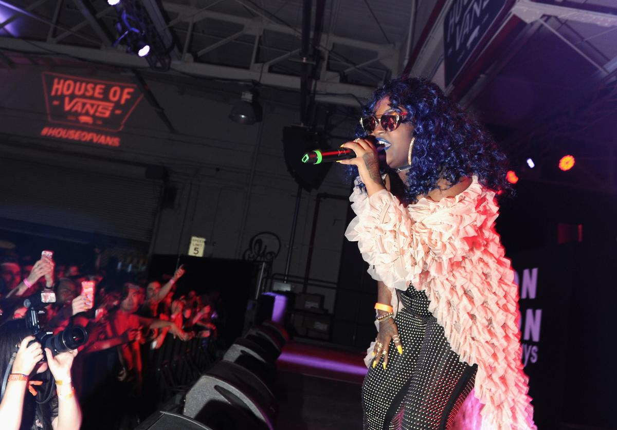 Cupcakke performs on stage at NYLON + NYLON Guys Celebrate the Music Issue at House of Vans Brooklyn on June 2, 2017 in New York City.