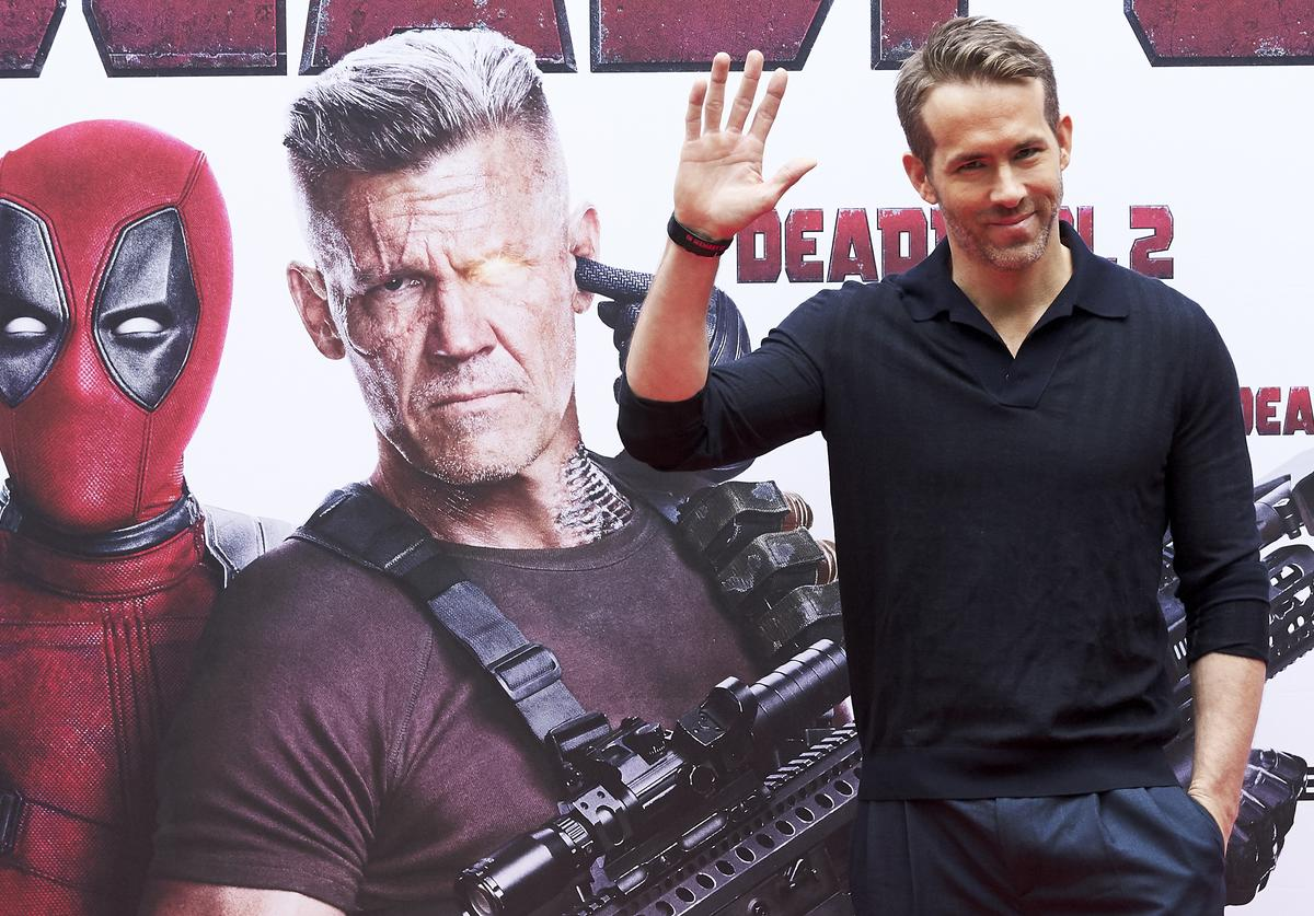 Ryan Reynolds attends 'Deadpool 2' photocall at the Villamagna Hotel on May 7, 2018 in Madrid, Spain