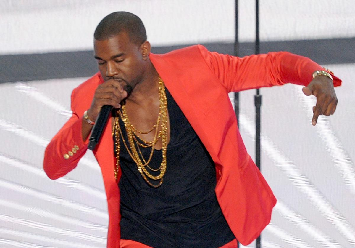 Kanye West performs onstage during the 2010 MTV Video Music Awards at NOKIA Theatre L.A. LIVE on September 12, 2010 in Los Angeles, California