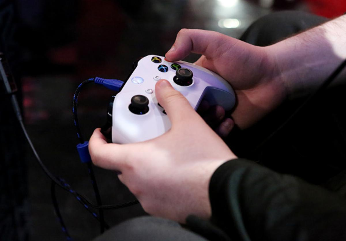 a general view of the game controller during the game between the Raptors Uprising Gaming Club and Celtics Crossover Gaming on May 12, 2018 at the NBA 2K League Studio Powered by Intel in Long Island City, New York.