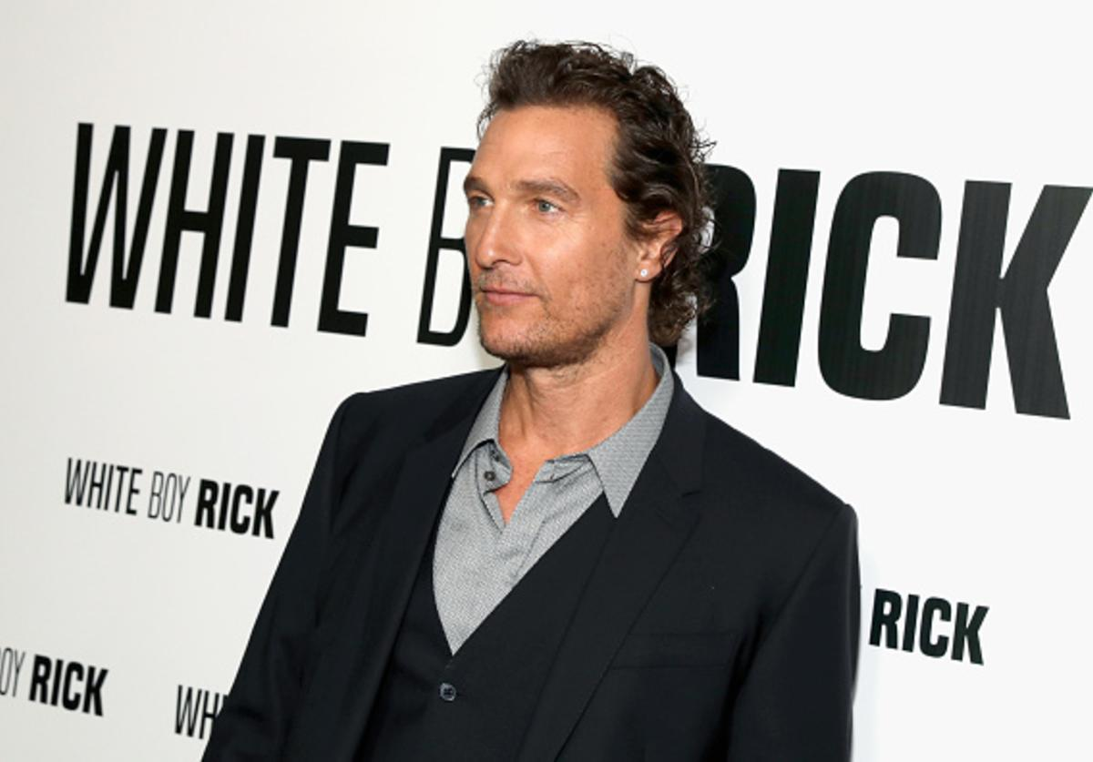 Actor Matthew McConaughey attends the CinemaCon 2018 Gala Opening Night Event: Sony Pictures Highlights its 2018 Summer and Beyond Films at The Colosseum at Caesars Palace during CinemaCon, the official convention of the National Association of Theatre Owners, on April 23, 2018 in Las Vegas, Nevada.