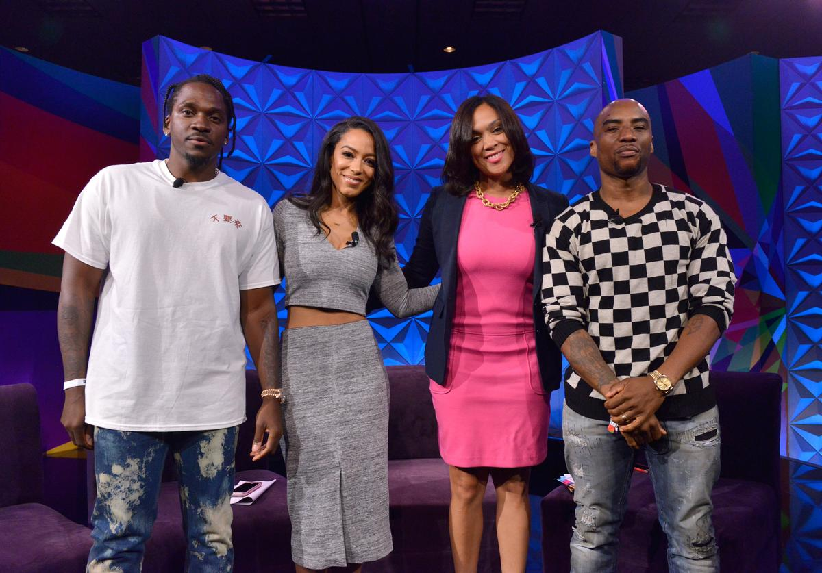 Pusha T, Angela Rye, Marilyn Mosby, and Charlamagne tha God at day one of Genius Talks, sponsored by AT&T, during the 2017 BET Experience at Los Angeles Convention Center on June 24, 2017 in Los Angeles, California
