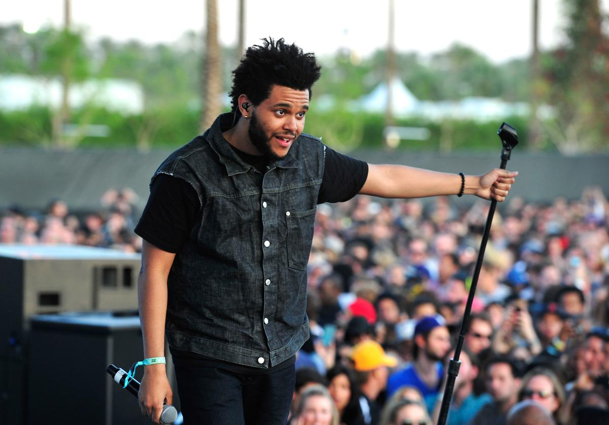 The Weeknd (aka Abel Tesfaye) performs during Day 3 of the 2012 Coachella Valley Music & Arts Festival held at the Empire Polo Club on April 15, 2012 in Indio, California