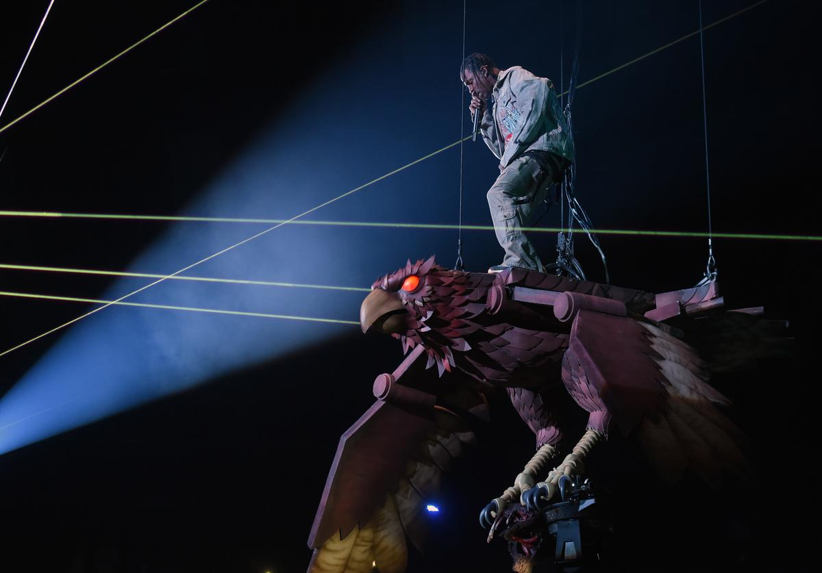 Travis Scott performs on stage during the MTV EMAs 2017 held at The SSE Arena, Wembley on November 12, 2017 in London, England.
