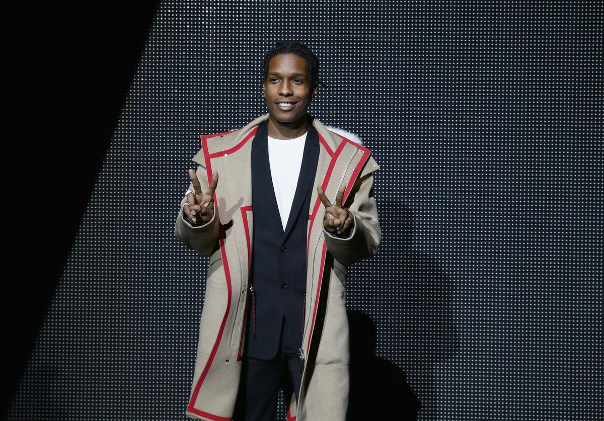 Asap Rocky attend the Dior Menswear Fall/Winter 2016/2017 fashion show at Tennis Club de Paris on January 23, 2016 in Paris, France