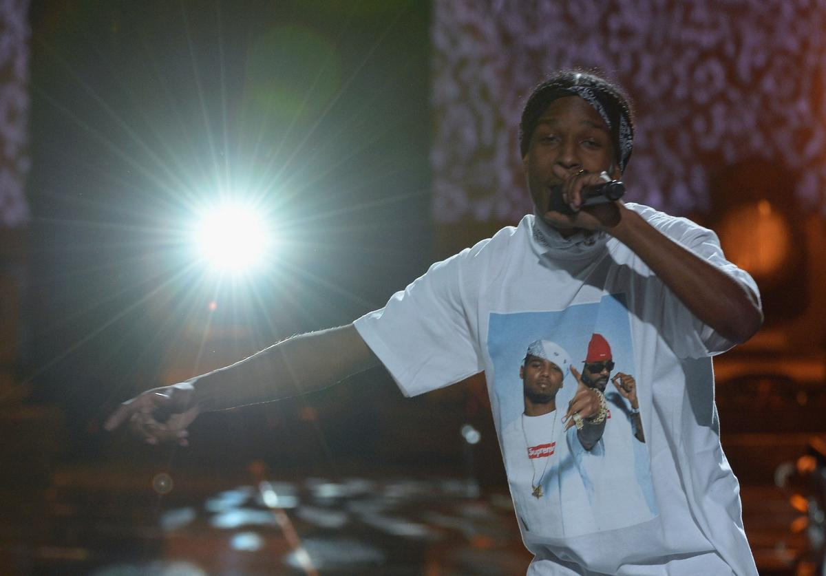 A$AP Rocky performs onstage during the 2013 BET Awards at Nokia Theatre L.A. Live on June 30, 2013 in Los Angeles, California