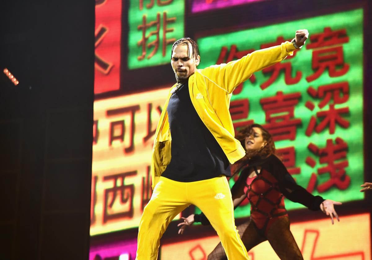 Chris Brown performs onstage during TIDAL X: Brooklyn at Barclays Center of Brooklyn on October 17, 2017 in New York City.
