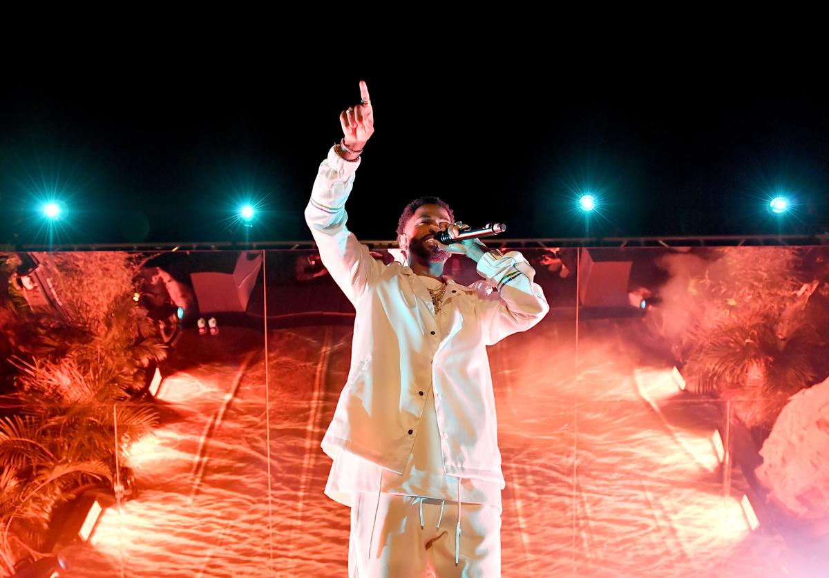Big Sean performs onstage at PUMA x Big Sean Collection Launch Event at Goya Studios on March 19, 2018 in Los Angeles, California.