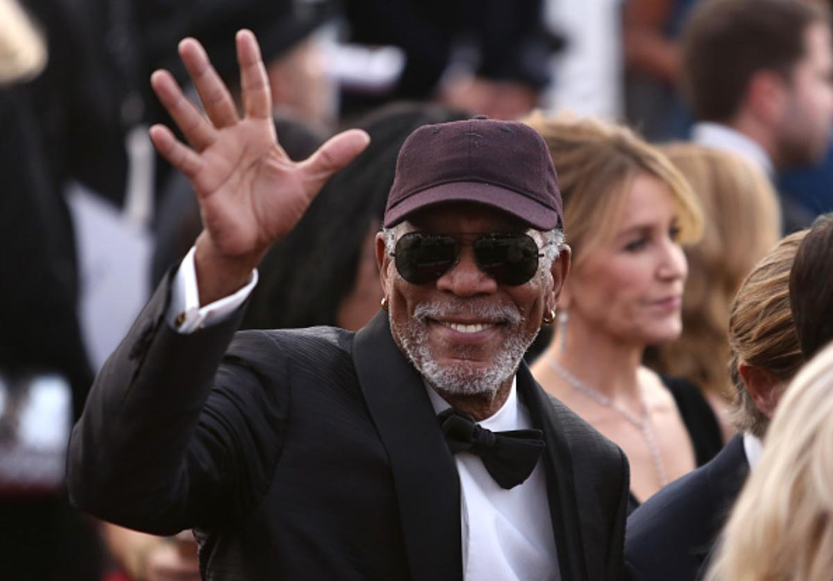 honoree Morgan Freeman attends the 24th Annual Screen ActorsGuild Awards at The Shrine Auditorium on January 21, 2018 in Los Angeles, California.