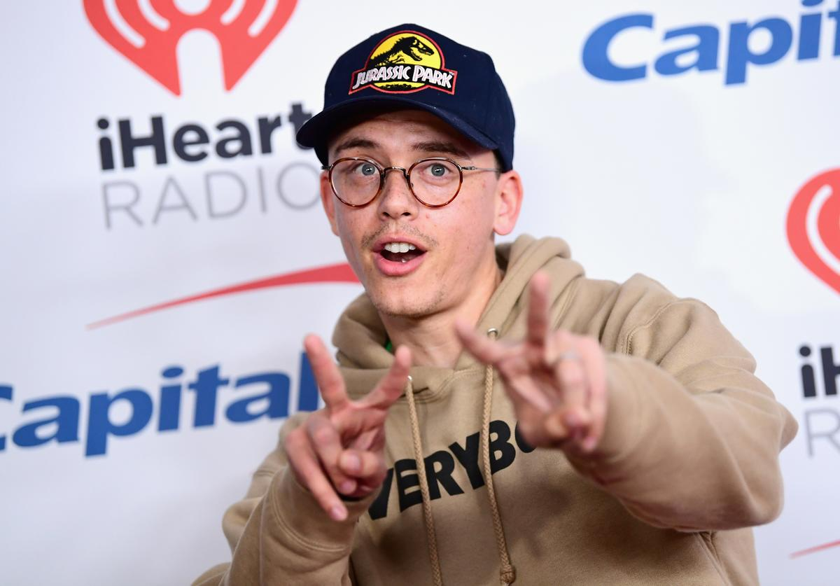 Logic poses in the press room during 102.7 KIIS FM's Jingle Ball 2017 presented by Capital One at The Forum on December 1, 2017 in Inglewood, California