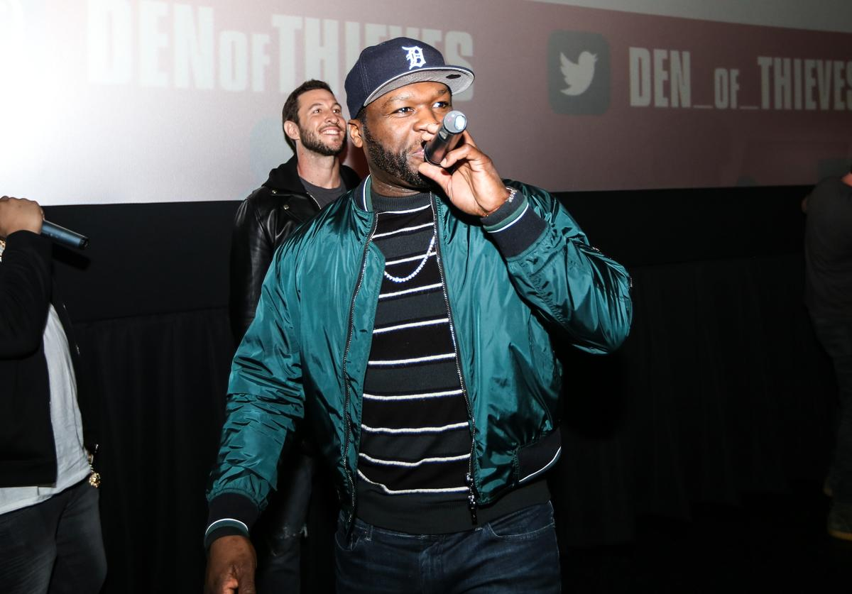 Curtis '50 Cent' Jackson at The Den of Thieves special screening at Regal South Beach on January 10, 2018 in Miami, Florida