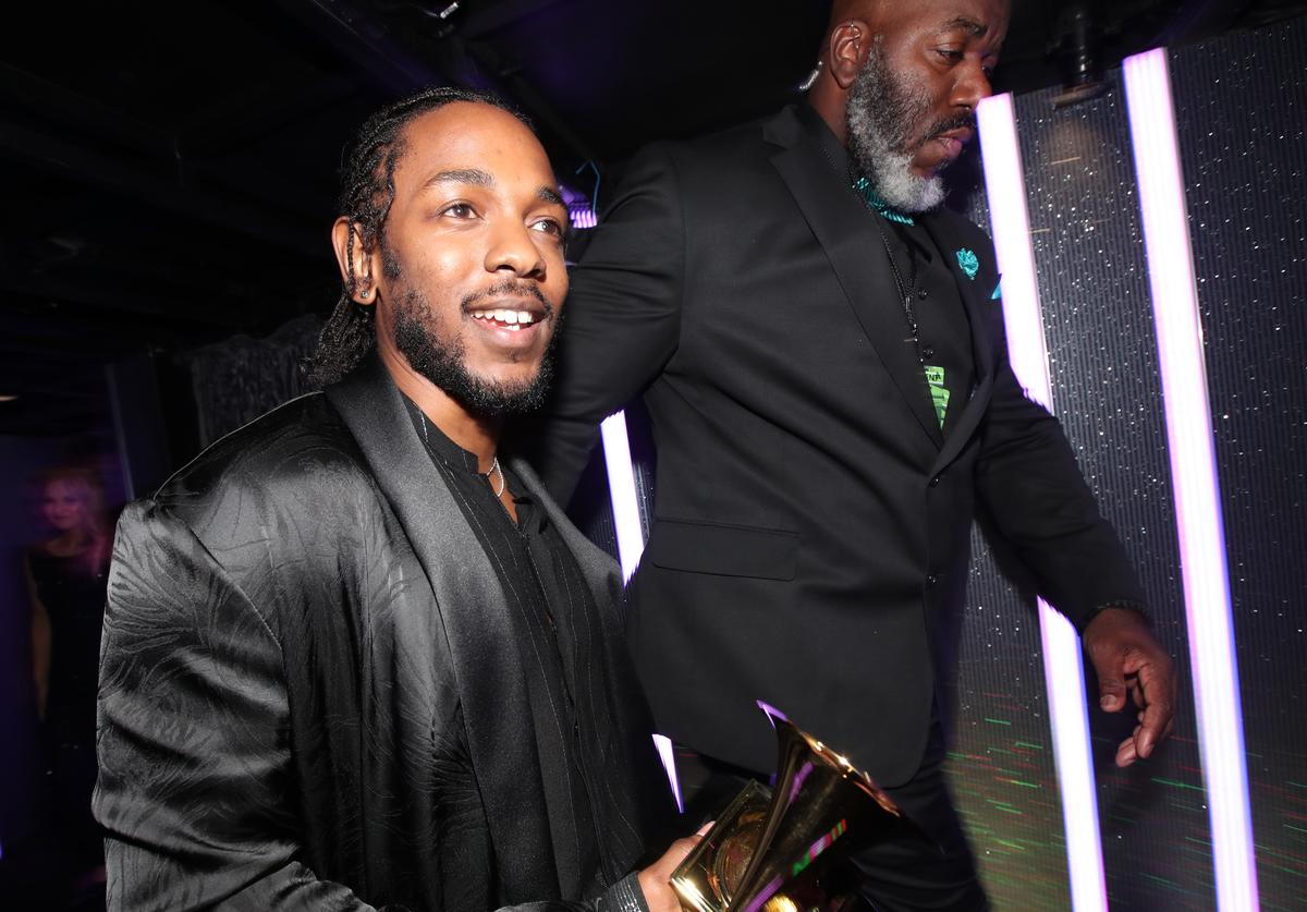 Kendrick Lamar attends the 60th Annual GRAMMY Awards at Madison Square Garden on January 28, 2018 in New York City