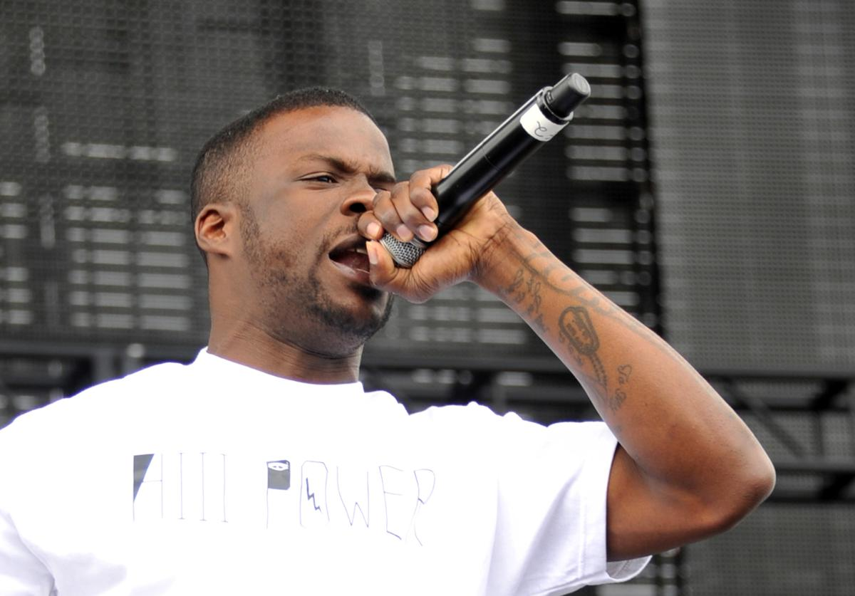 Rapper Jay Rock performs onstage during day 1 of the 2012 Coachella Valley Music & Arts Festival at the Empire Polo Field on April 13, 2012 in Indio, California.