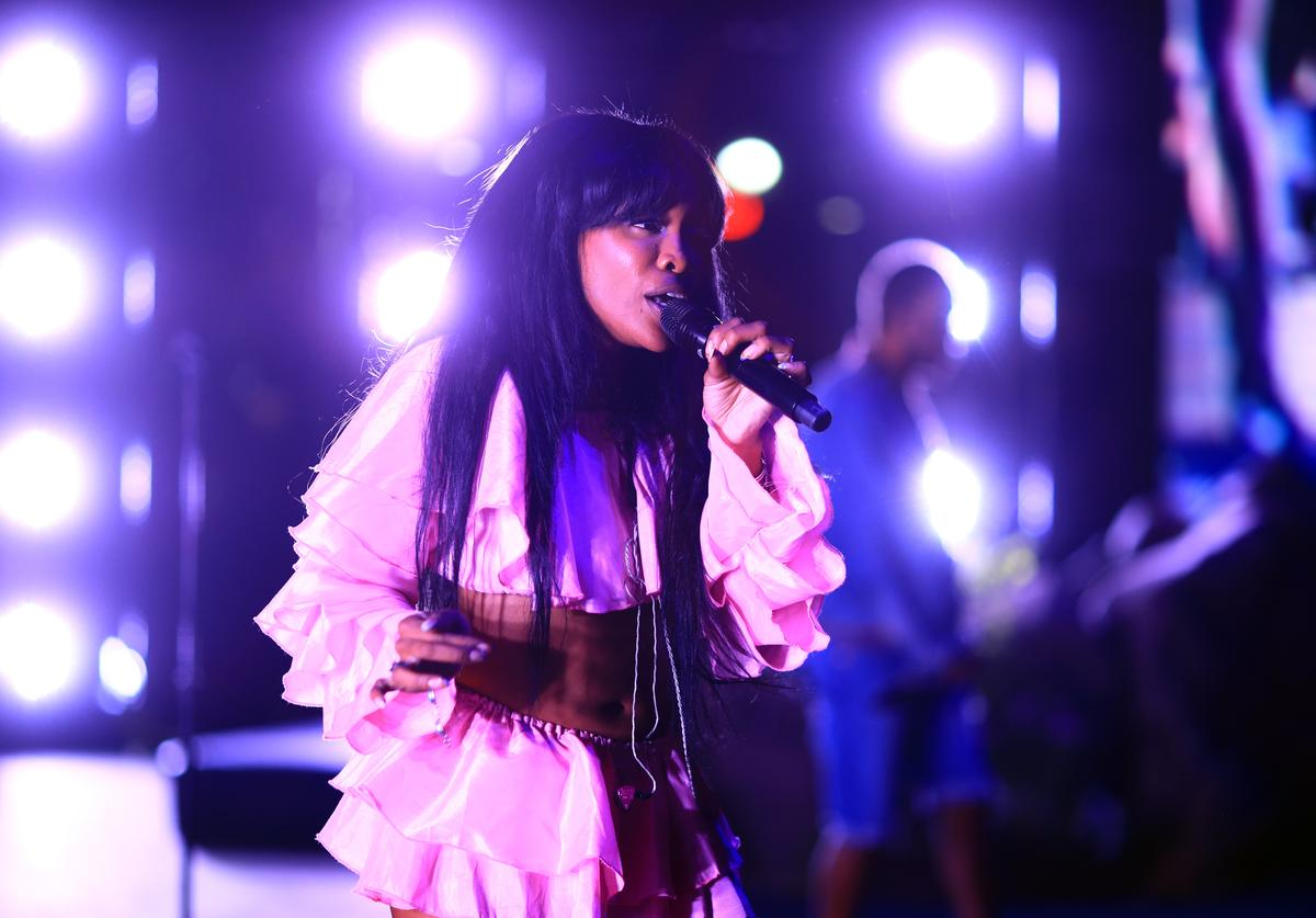 SZA performs onstage during the 2018 Coachella Valley Music And Arts Festival at the Empire Polo Field on April 13, 2018 in Indio, California.