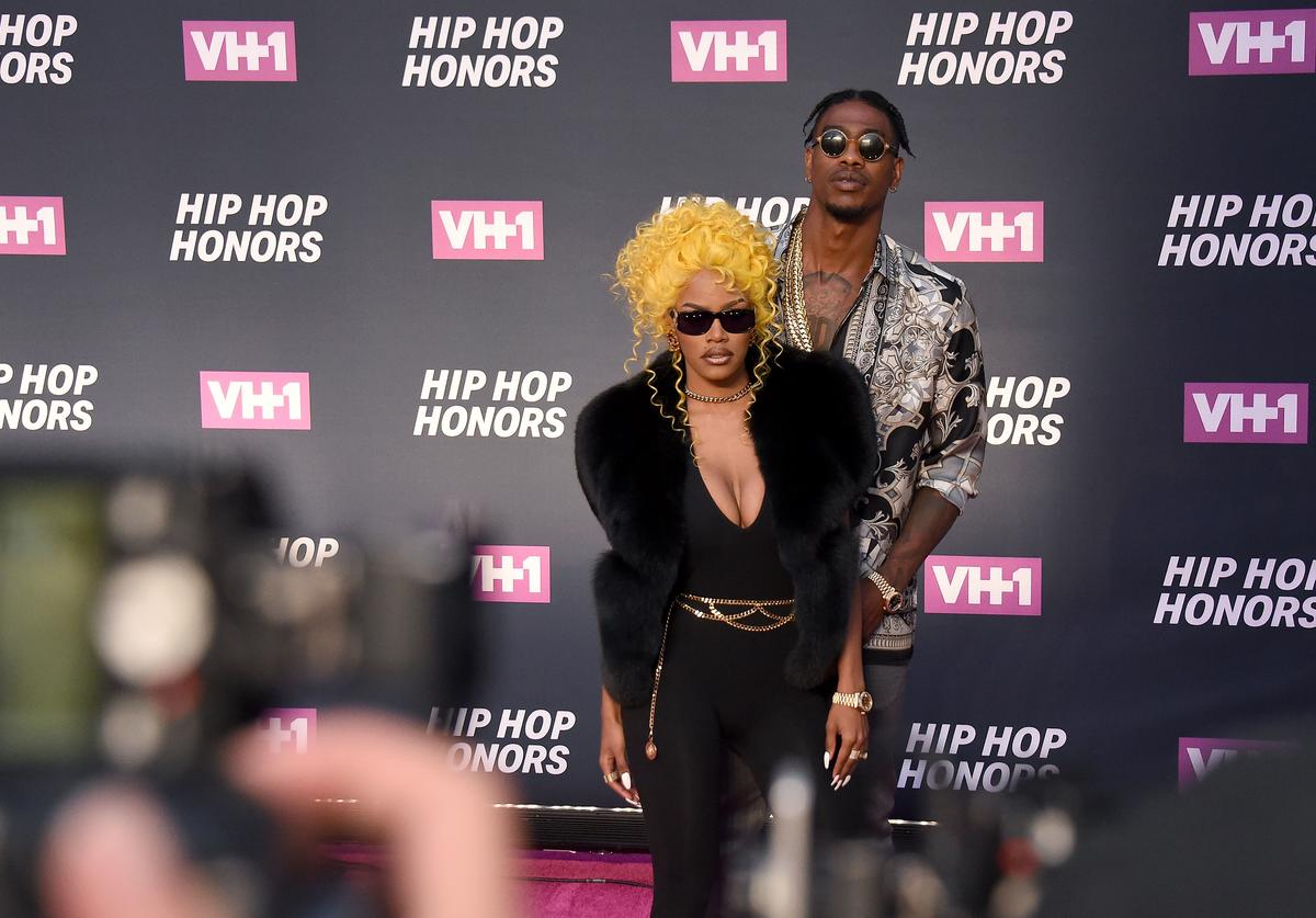 Teyana Taylor (L) and Iman Shumpert I attend the VH1 Hip Hop Honors: All Hail The Queens at David Geffen Hall on July 11, 2016 in New York City