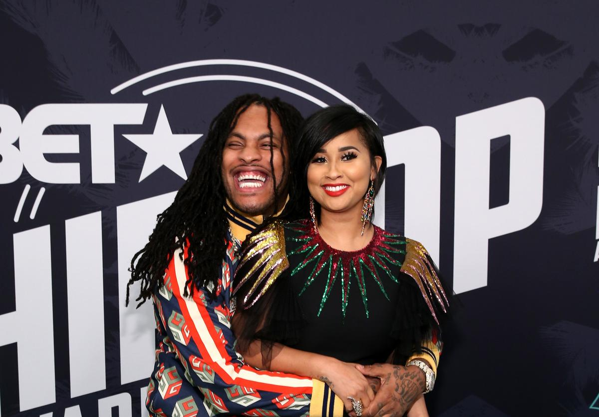 Rapper Waka Flocka and TV personality Tammy Rivera attend the BET Hip Hop Awards 2017 at The Fillmore Miami Beach at the Jackie Gleason Theater on October 6, 2017 in Miami Beach, Florida.