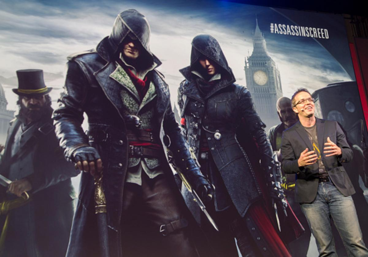 Creative Director Ubisoft Quebec Marc-Alexas Cote presents Assassin's Creed Syndicate at the Ubisoft E3 Conference on June 15, 2015 in Los Angeles, California. The annual Electronic Entertainment Expo, or E3, video game conference opens tomorrow and runs June 16 through 18.