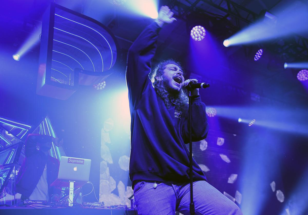 Post Malone performs at Pandora Sounds Like You: 2017 on December 5, 2017 in New York City.