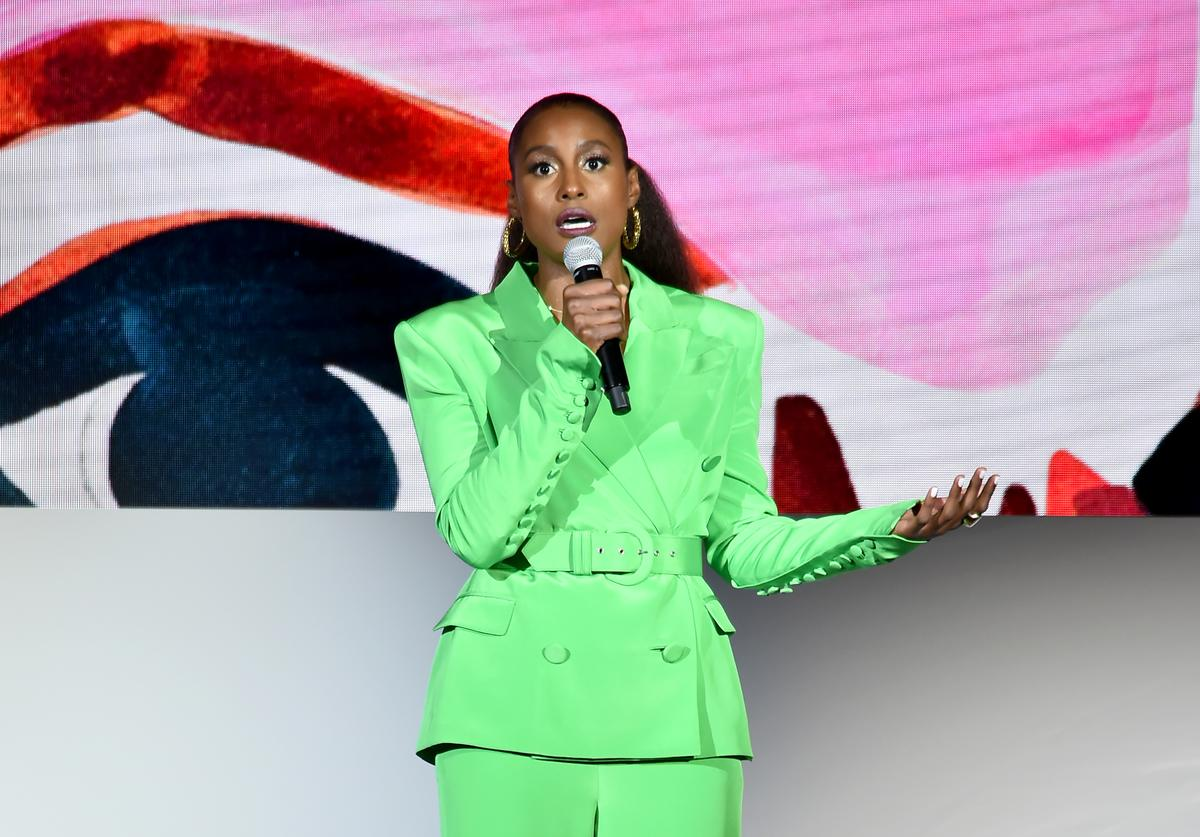 Issa Rae speaks onstage during the 2018 CFDA Fashion Awards at Brooklyn Museum on June 4, 2018 in New York City