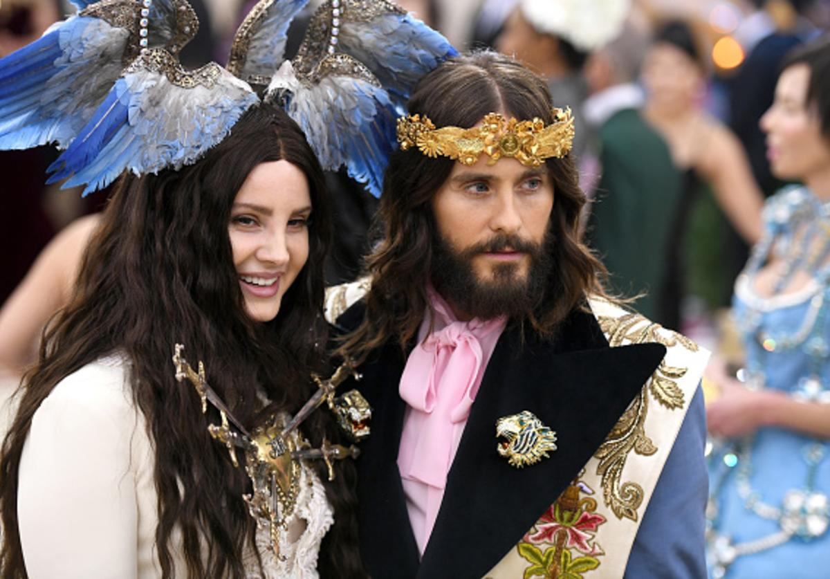 Recording artist Lana Del Rey and actor Jared Leto attend the Heavenly Bodies: Fashion & The Catholic Imagination Costume Institute Gala at The Metropolitan Museum of Art on May 7, 2018 in New York City.