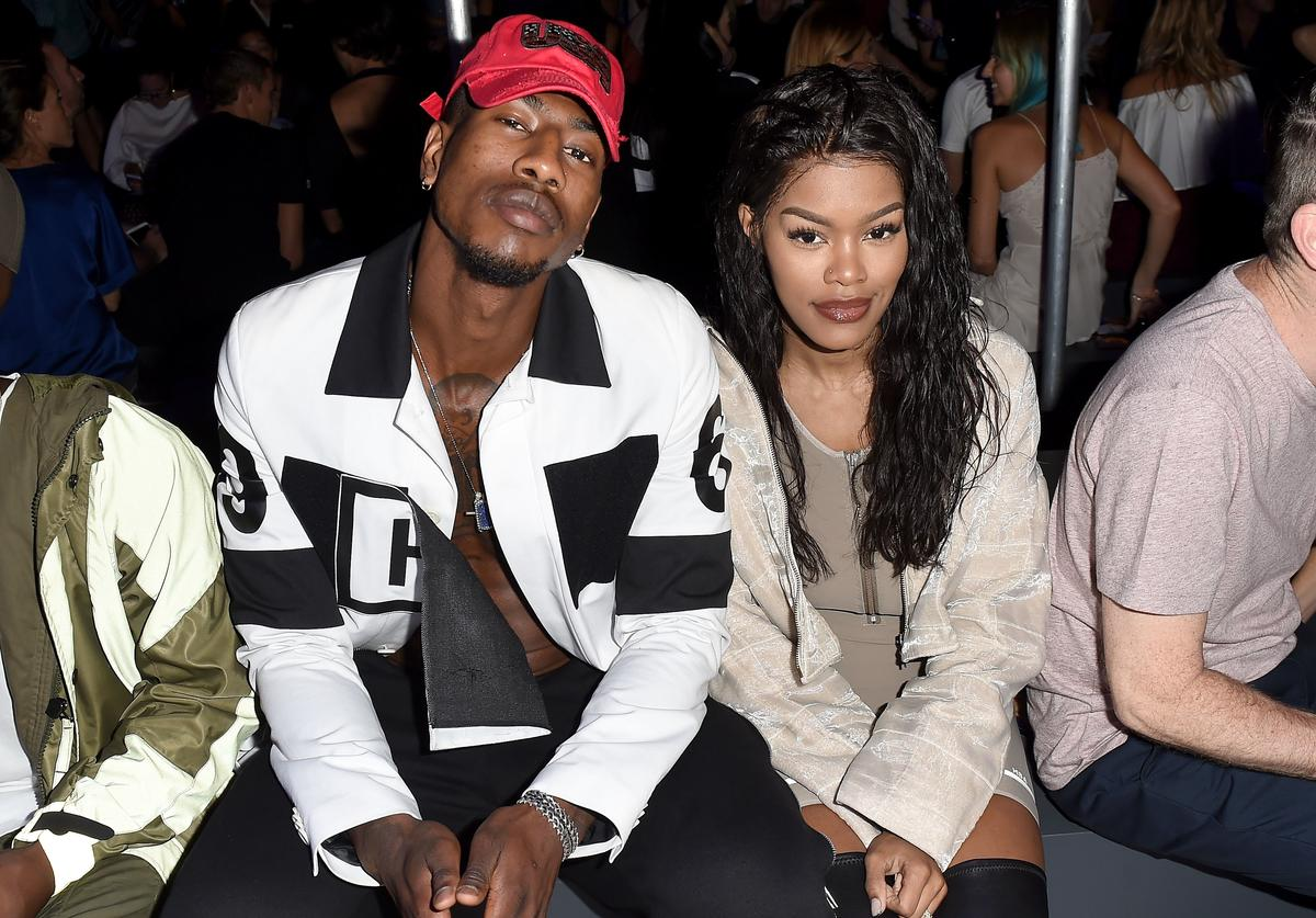 Iman Shumpert and Teyana Taylor attend the Hood By Air fashion show during New York Fashion Week: The Shows at The Arc, Skylight at Moynihan Station on September 11, 2016 in New York City