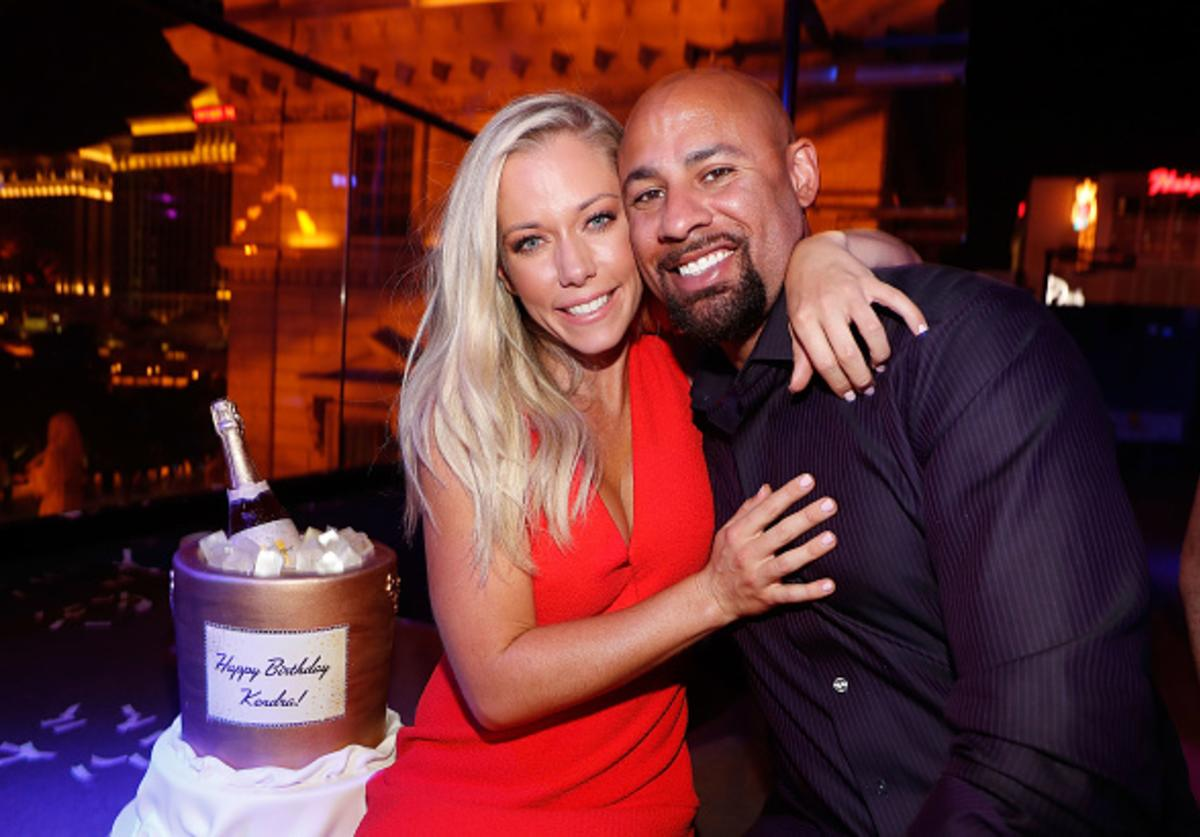 Kendra Wilkinson and Hank Baskett celebrates Wilkinson's birthday during the premiere celebration for WE tv's 'Kendra on Top' and 'Sex Tips for Straight Women from a Gay Man' on June 8, 2017 in Las Vegas, Nevada.