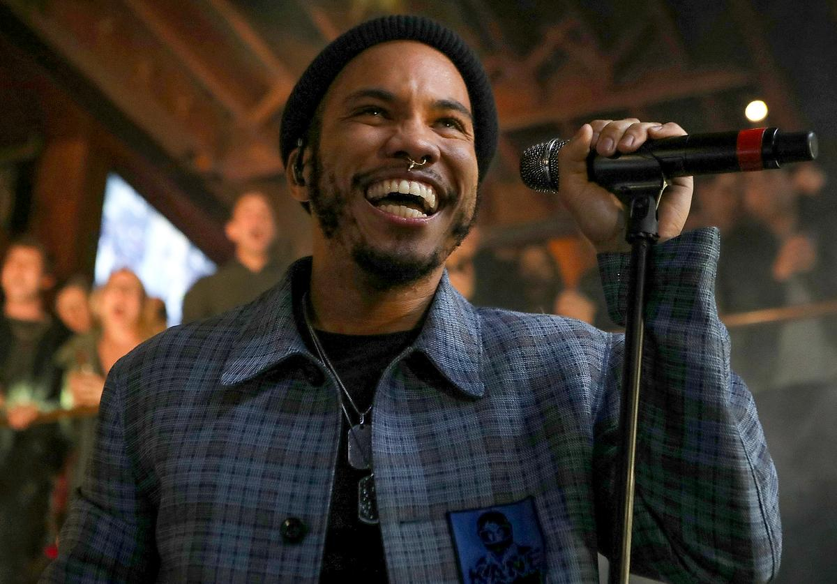 Anderson .Paak & The Free Nationals perform at Soho Sounds: LA hosted by Soho House with Samsung, BMW of Beverly Hills & Bacardi on February 11, 2017 in Los Angeles, California