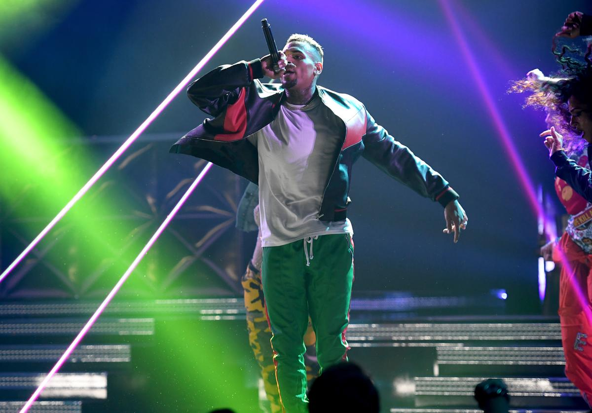 Chris Brown performs onstage at 2017 BET Awards at Microsoft Theater on June 25, 2017 in Los Angeles, California.