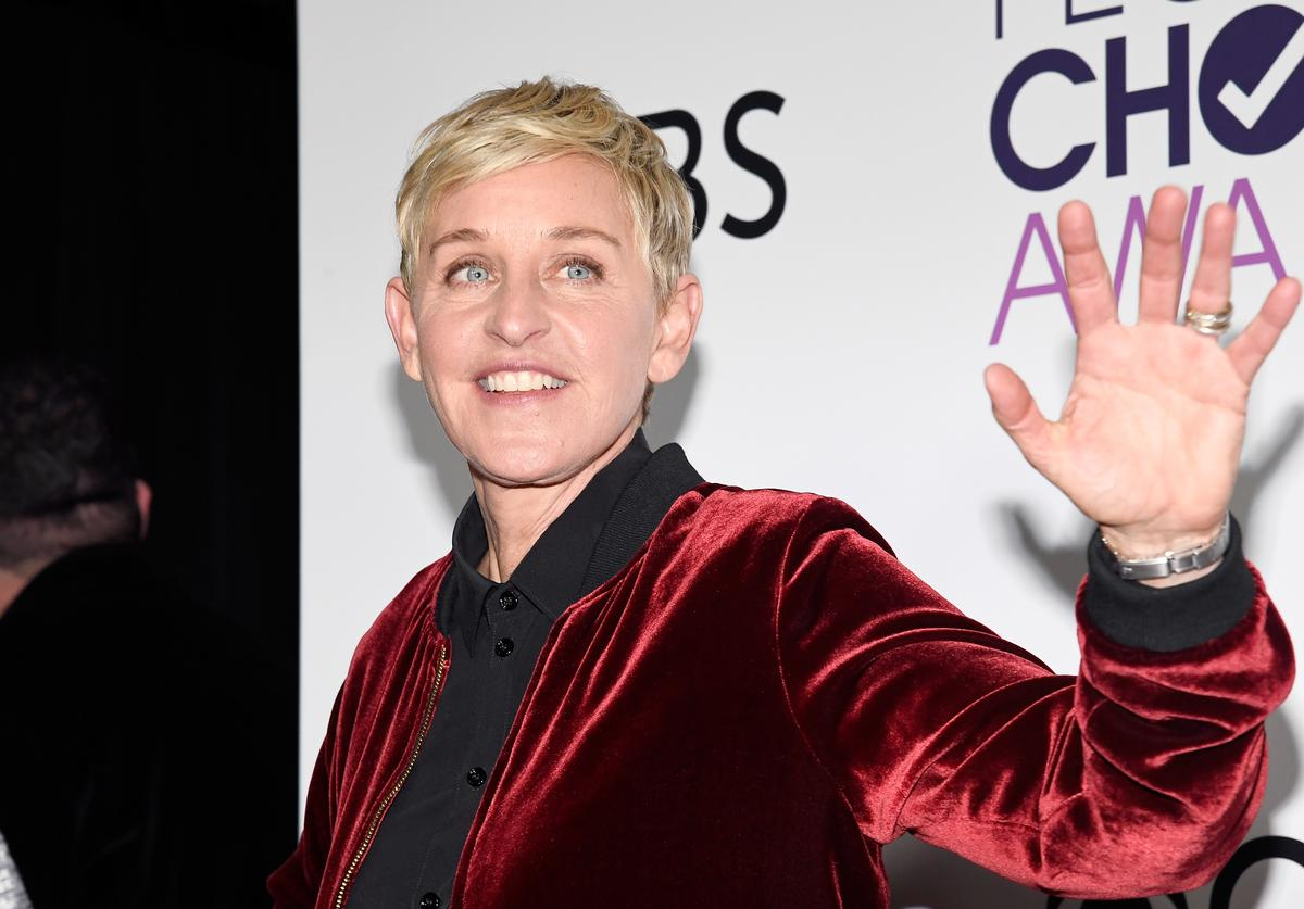 Ellen Degeneres, winner of mulitple awards, poses in the press room during the People's Choice Awards 2017 at Microsoft Theater on January 18, 2017 in Los Angeles, California.