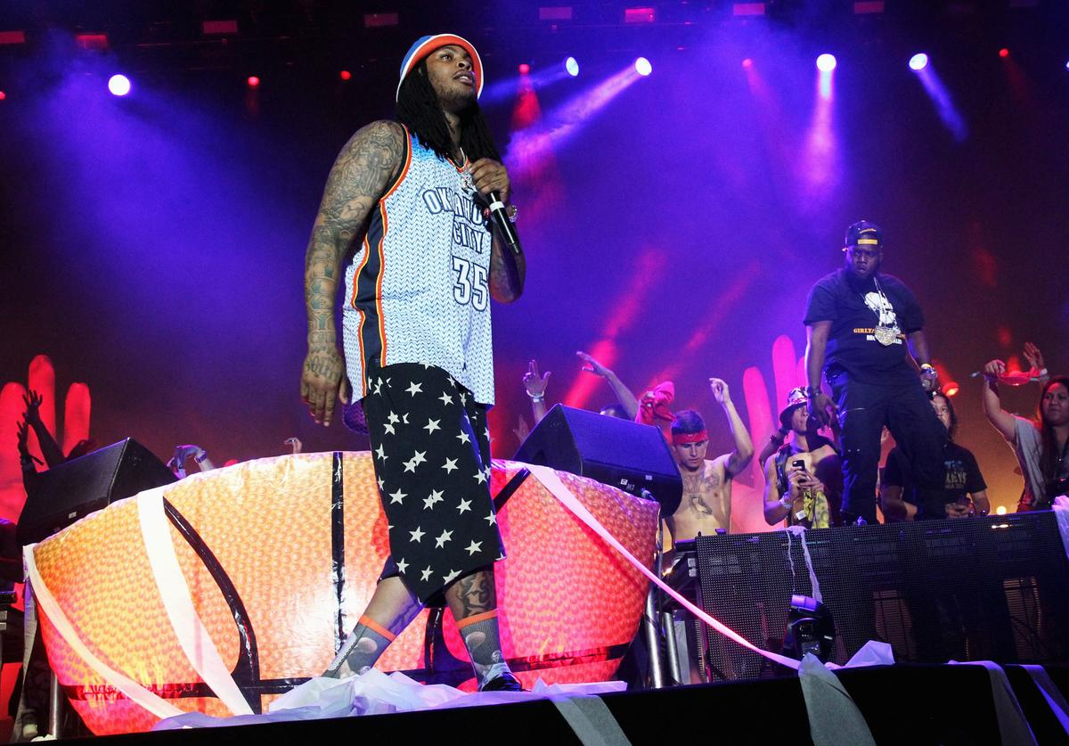Juaquin Malphurs aka Waka Flocka Flame performs onstage during day 1 of the 2014 Coachella Valley Music & Arts Festival at the Empire Polo Club on April 18, 2014 in Indio, California
