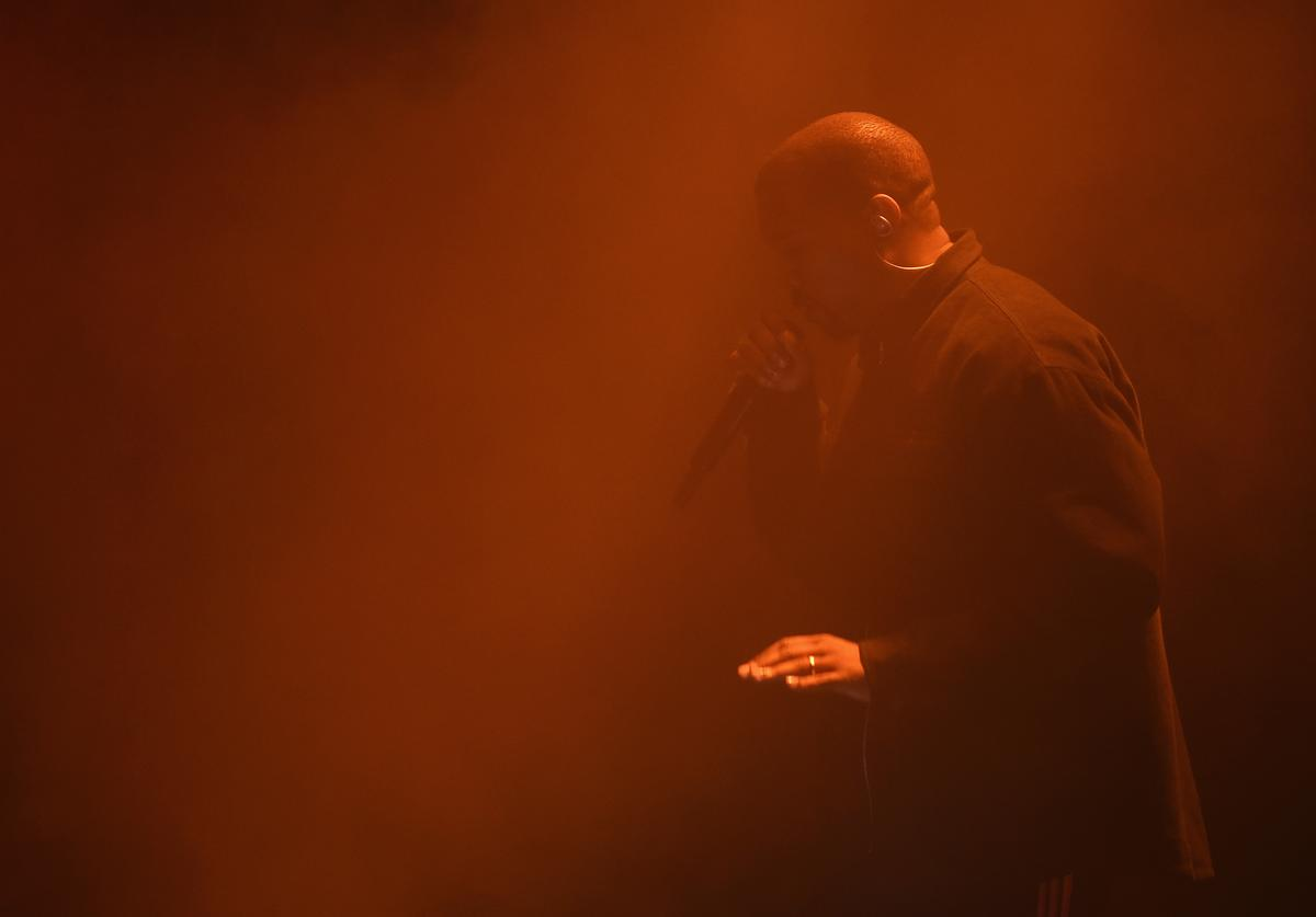Kanye West performs during Harper's Bazaar's celebration of 'ICONS By Carine Roitfeld' presented by Infor, Laura Mercier, and Stella Artois at The Plaza Hotel on September 9, 2016 in New York City.
