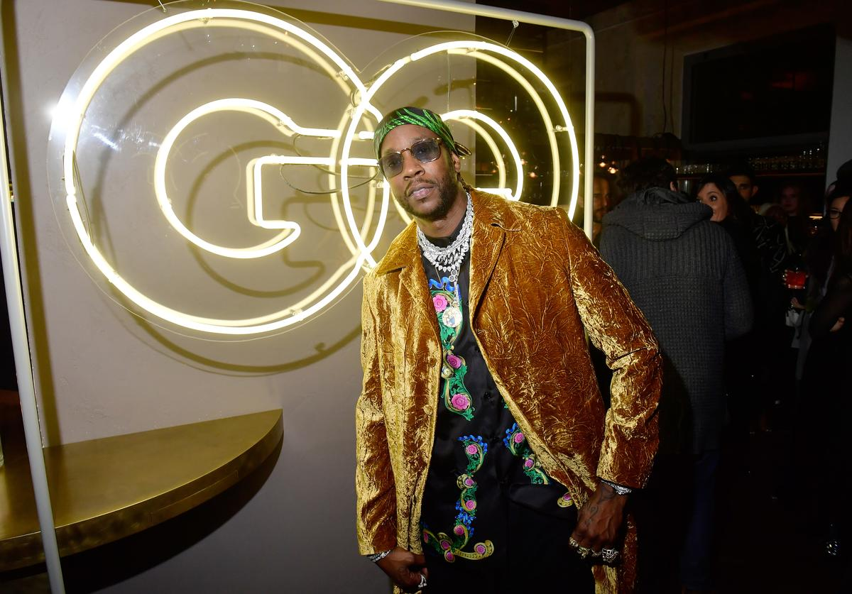 2 Chainz attends the GQ Milan Cocktail Party during Milan Men's Fashion Week Fall/Winter 2018/19 on January 13, 2018 in Milan, Italy.