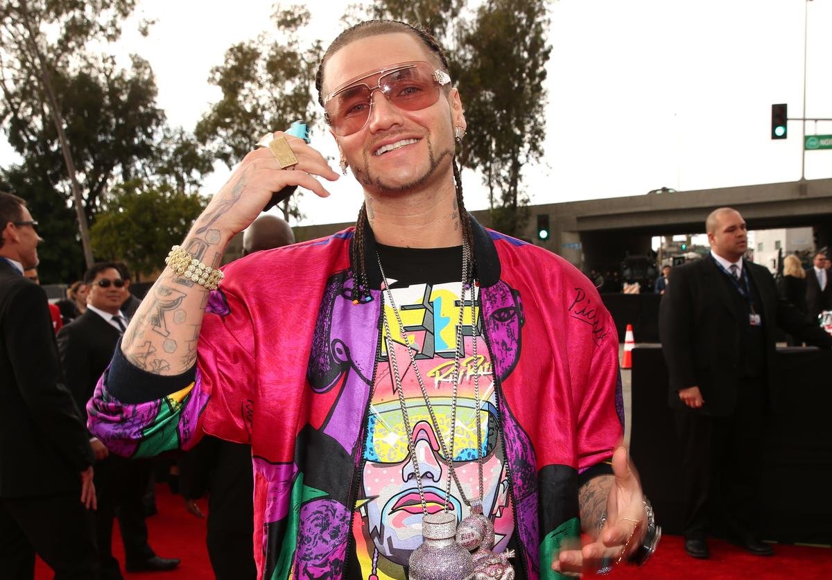 Rapper Riff Raff, aka Jody Christian, attends the 55th Annual GRAMMY Awards at STAPLES Center on February 10, 2013 in Los Angeles, California.