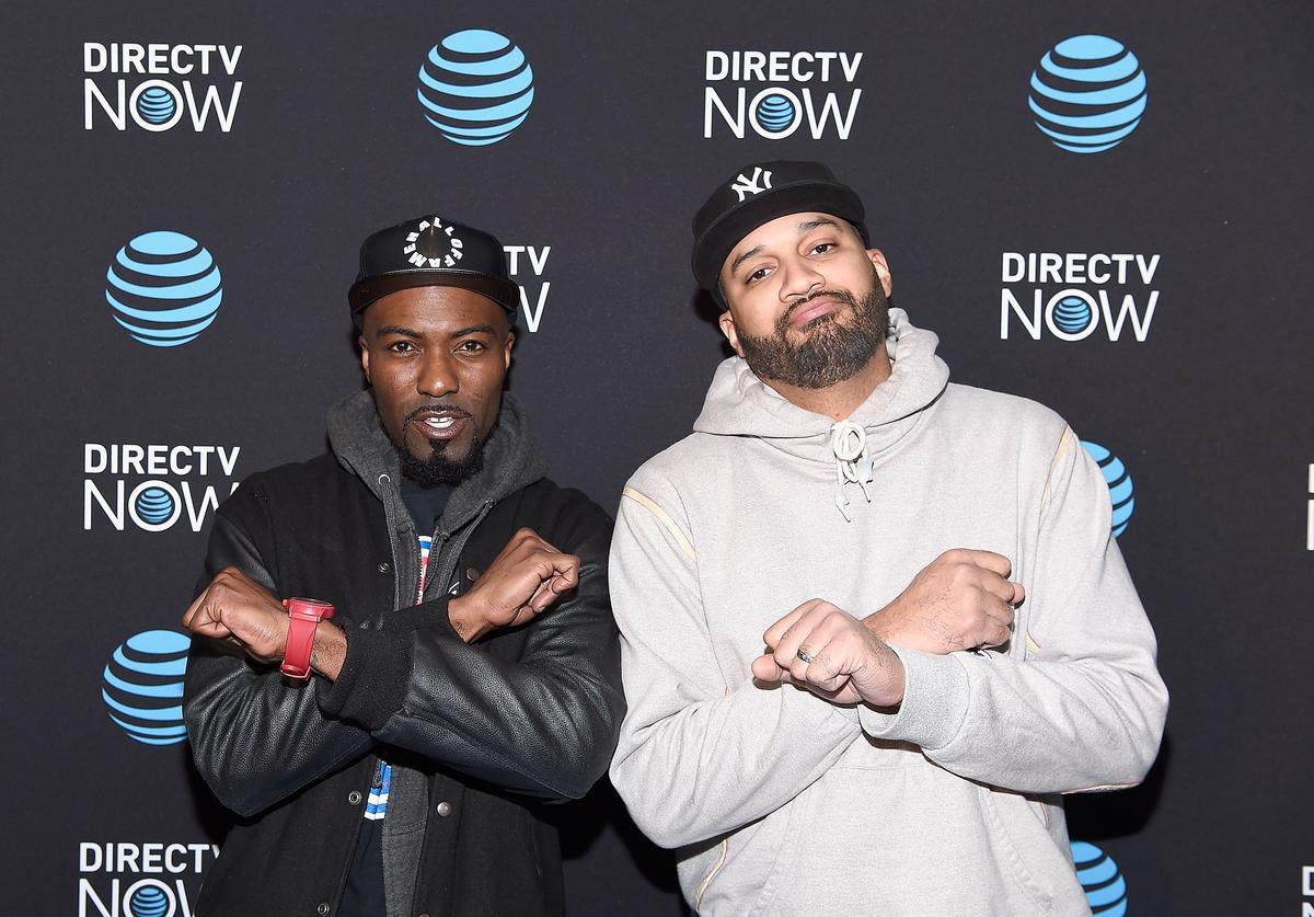 Comedians Desus Nice and The Kid Mero attend AT&T's celebration of the Launch of DIRECTV NOW at Venue 57 on November 28, 2016 in New York City.