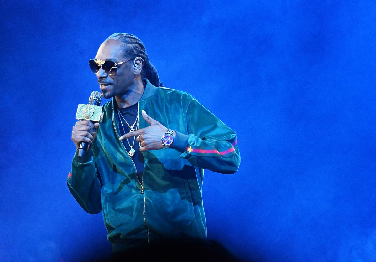 Snoop Dogg of TBS's Joker's Wild performs onstage during the Turner Upfront 2018 show at The Theater at Madison Square Garden on May 16, 2018 in New York City