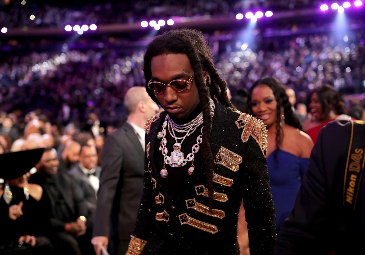 Recording artist Takeoff of Migos attends the 60th Annual GRAMMY Awards at Madison Square Garden on January 28, 2018 in New York City.