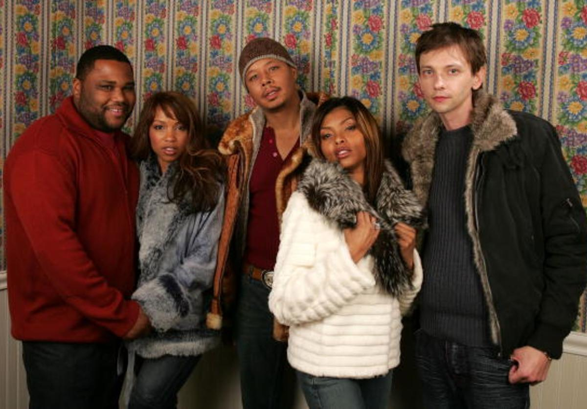 Actors Anthony Anderson, Elise Neal, Terence Howard. Taraji Henson and DJ Qualls of the film 'Hustle and Flow' poses for portraits during the 2005 Sundance Film Festival January 22, 2005 in Park City, Utah.