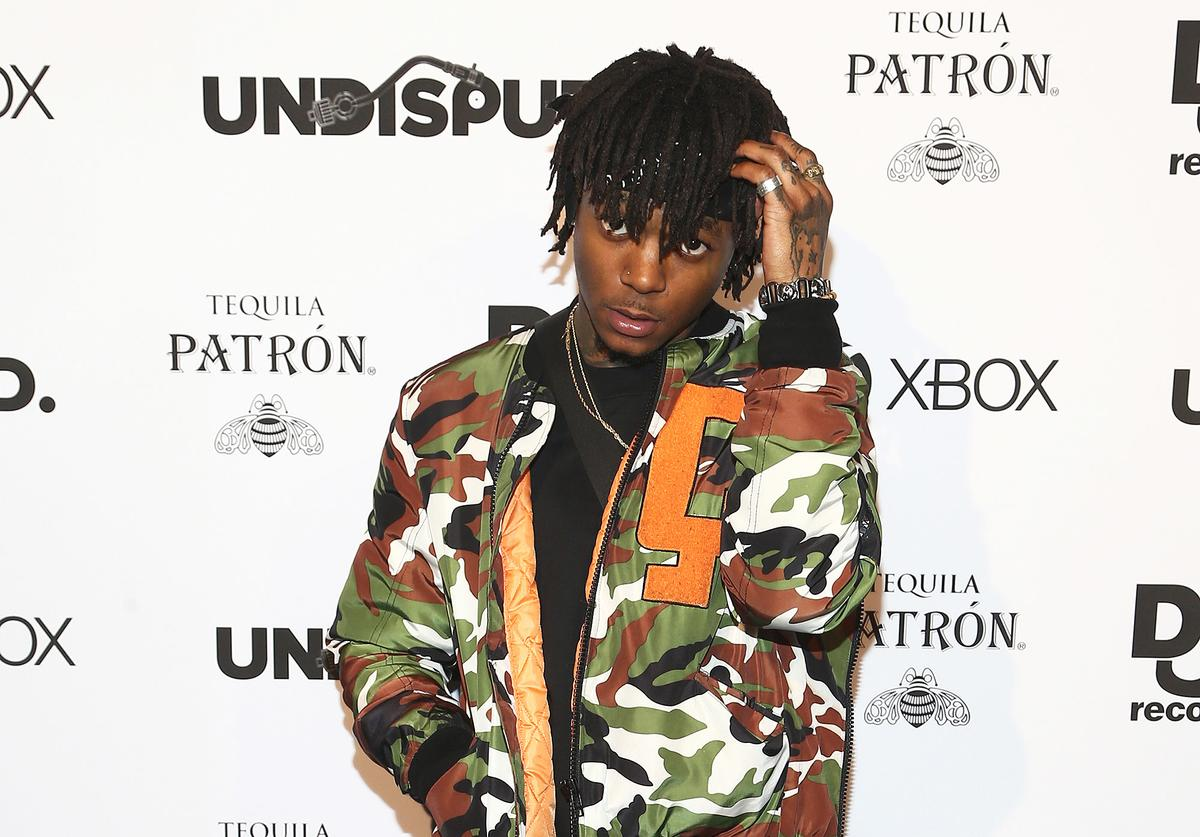 Rapper J.I.D attends the Def Jam Celebrates NBA All Star Weekend at Milk Studios in Hollywood With Performances by 2 Chainz, Fabolous & Jadakiss, Presented by Patron Tequila at Milk Studios on February 16, 2018 in Hollywood, California.