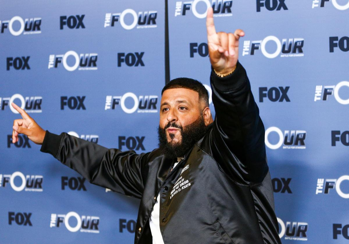 DJ Khaled attends the premiere of Fox's 'The Four: Battle For Stardom' Season 2 at CBS Studios - Radford on May 30, 2018 in Studio City, California.